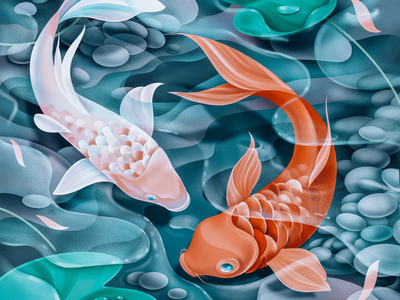 Koi digitalart art illustration