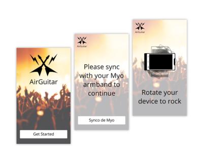 AirGuitar App Design