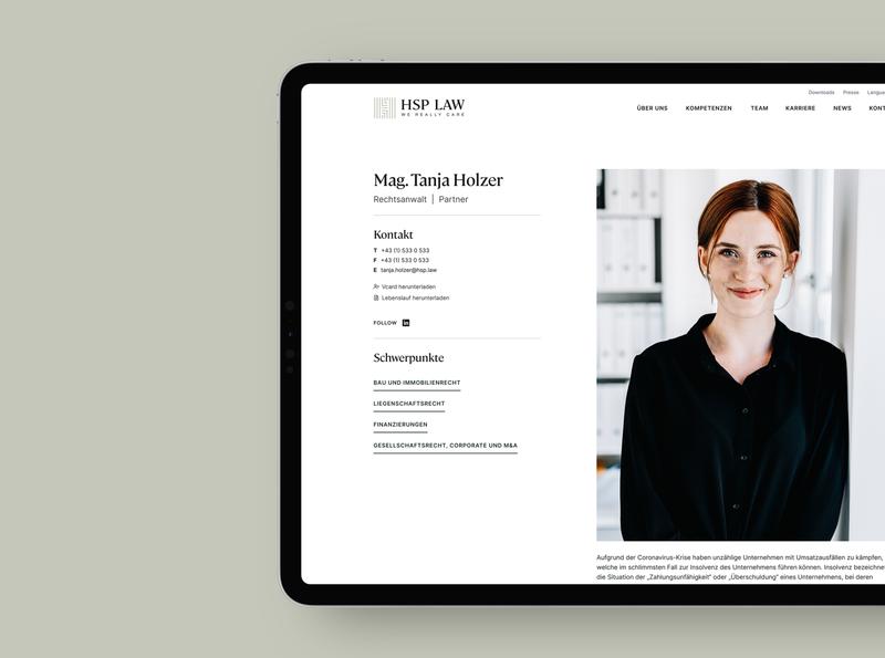Profile Site attorney law agency logo logotype typography design branding clean webdesign ux uiux ui