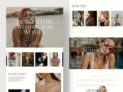 Fashion Brand Homepage user experience jewelry fashion ecommerce e-commerce webflow web figma typography website design webdesign clean ux uiux ui