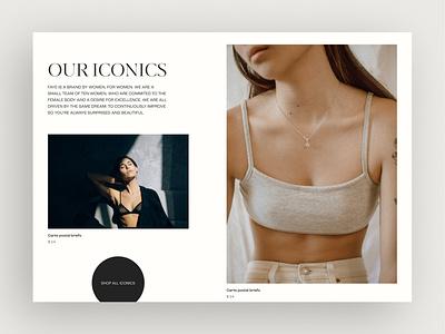 Fashion Brand Ecommerce Website user experience jewelry fashion ecommerce e-commerce webflow web figma typography website design webdesign clean ux uiux ui