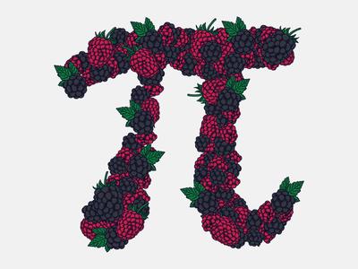 Berry Pi pattern fruit pi illustration