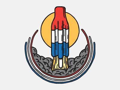 Summer Space usa rocket space illustration summer badge