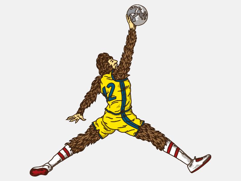 Wolf illustration werewolf moon dunk teenwolf basketball