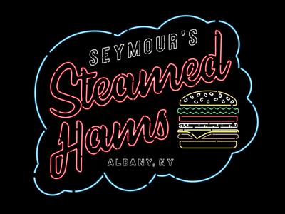 Steamed Hams sign illustration type neon