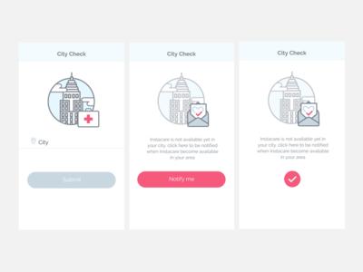 City Check - Instacare Medical App
