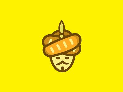 Sultan Bread Logo caricature character illustration mascot branding vector logo design brand
