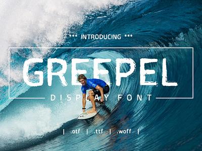 Greepel Display Font type font bundle font design typeface font grunge font grunge