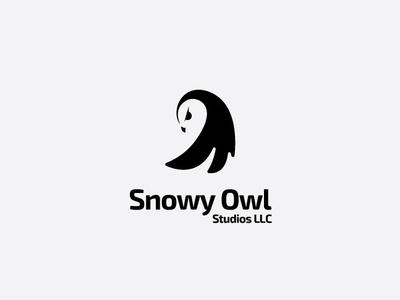 Snowy Owls animal mascot vector logo brand