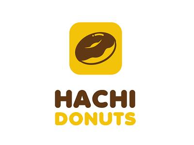 Logo Hachi Donuts branding illustration design mascot vector logo brand