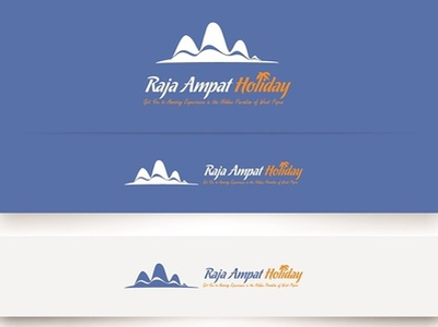 Raja Ampat Holiday Logo typography illustration branding vector design logo brand