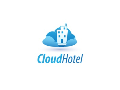 Cloud Hotel hotel cloud illustration branding design vector logo brand