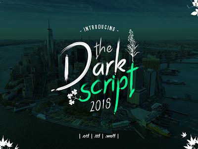 Dark Script Font script font font design type font awesome font