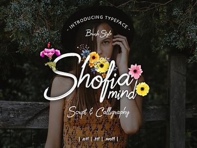 Shofia Mind Script script font type font design font awesome font typography design
