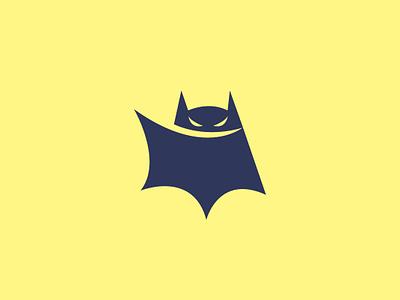 Little Bat Logo animal illustration design mascot vector dark blue brand branding logo black bat