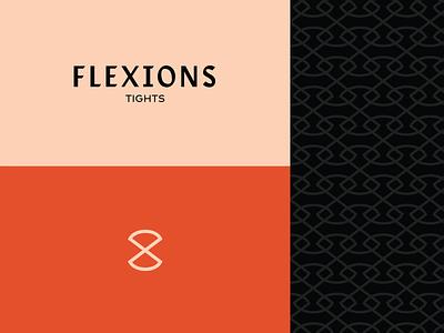 Flexions System logo system branding stretch hourglass tights orange fashion pattern icon design knit icon