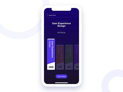 Bookshelf App Exploration interaction ios dribbble uiux uiuxdesign kindle reading books ux design ui