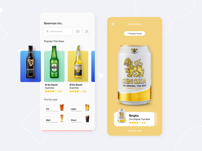 Beerman Inc Visual Design visual design beer branding user interface user experience uiux design uiux visual designs beer can branding ios ux design ui