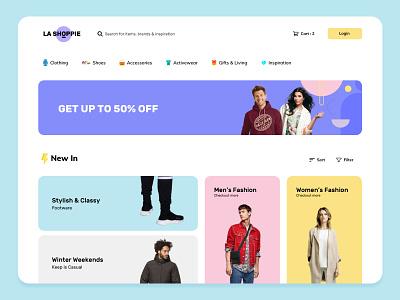 Clothing eCommerce Shop Webpage myntra flipkart amazon grid design grid layout color palette colorful web pages ecommerce shop web page uiux ux design ui