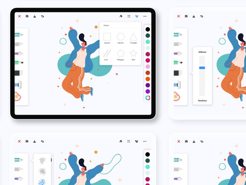 Drawing App - iPad Pro adobe sketch affinitydesigner procreate ipad pro mockup ipad procreate illustration uiux design uiuxdesign uiux ios app ios artist ipadapp ipadpro drawingart drawing app