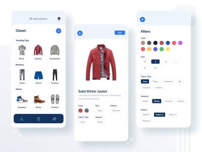 Closet App Exploration uiux uiuxdesign ios app cloths closet ux design ui