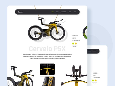 Bicycle Store Landing Page website concept website design website landing page design design ux ui
