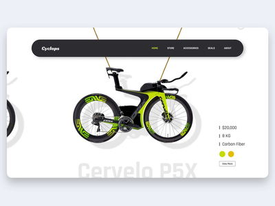 Luxury Bicycle Store Interaction animation landing page interaction design micro interaction interaction ux design ui