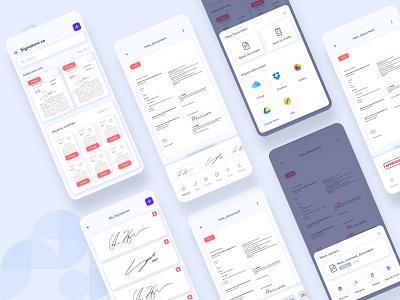 Signature App Concept uiux concept ios app ux design ui