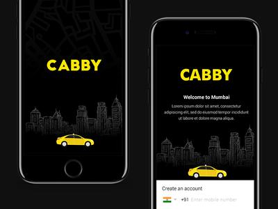 Cabby - Taxi App Design creative ui design app iphone7plus taxi app