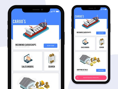 Inventory App for Cargo's | iOS | UI/UX ios design ux ui app shipments cargos