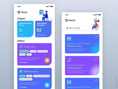 Education App Iteration ios education app educational iphonex dribbble ux design ui