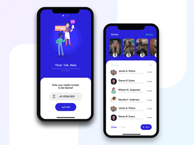 Messaging App UI Concept messaging app chat chat app creative blue iphonex dribbble ios app ux design ui