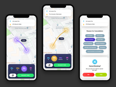 Taxi Booking UI dribbble design clean uber taxi app map taxi ux ui layout ios app