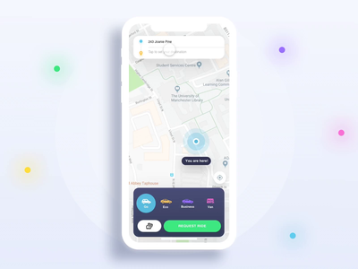 Route Selection Interaction - Taxi App interaction animation interaction design interaction android dribbble ios app ux design ui
