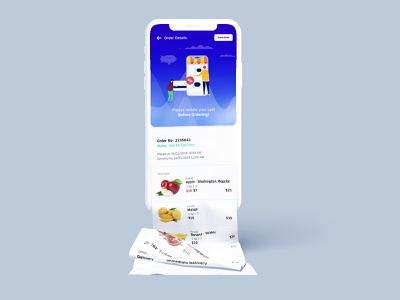 Groceries App Cart (I mean long cart listing) cart grocery app gradient dailyui creative dribbble ios app design ux ui