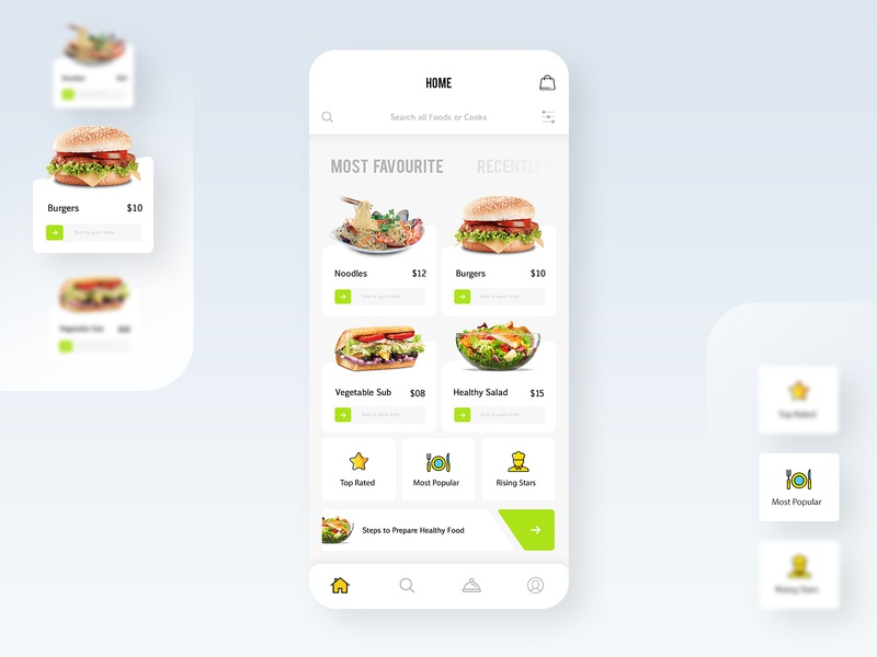 Food Delivery App UI dribbble dailyui ios app design animation interface food delivery online order delivery app food white art app design ux ui