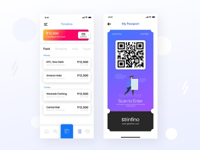 Financing App ios app gradient dribbble finance app banking finance ux design ui