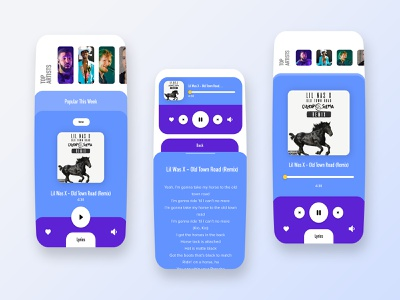 Music App Design music app ui lyrics fider music player music app dribbble ios app ux design ui