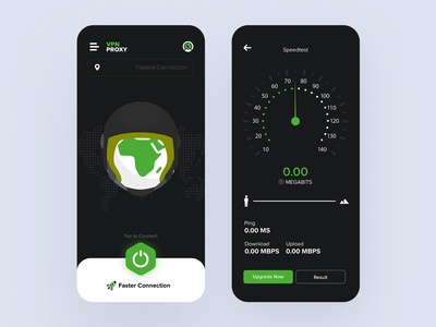 VPN App (Dark UI)