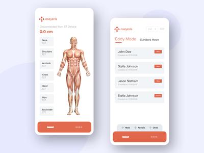Oseyeris Body Measurement BT Companion App