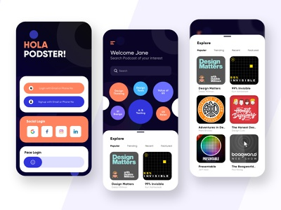 Podcast App creative uiux podcasts product design podcasting podcast dribbble ios ux design ui