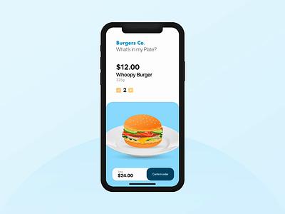 Burger Ordering App Interaction burger menu motion ui ux dribbble food ordering app food animation interaction ios app burger