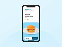 Burger Ordering App Interaction
