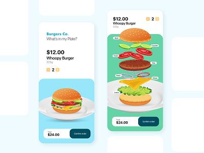 Burgers.Co App illustration app design interaction burger logo burger menu food ordering app burger ux design ui