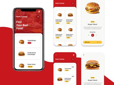 Food Mobile App icon app typography ux logo vector branding ui illustration design
