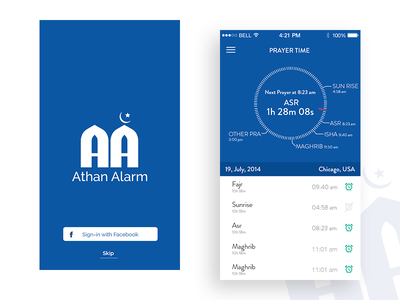 Athan Alarm iOS app iphone appdesign application android ios mobileapp