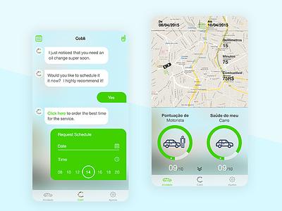 Cobli Mobile App statistics photoshop design drivermanagement mobileapp car