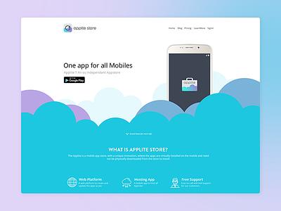 Applite Website and app hardik godhaniya ifocuscreatives design appstore clean app 2017 website applite