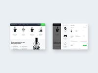 Elkjøp prototype — Sticky Nav & Cart