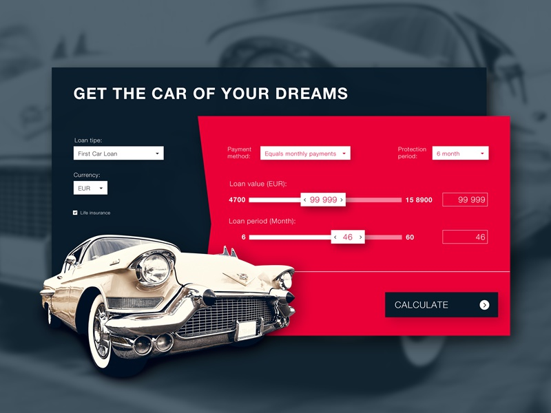 Car Loan Calculator by Marian Voicu - Dribbble